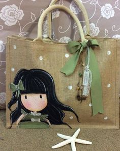 Pin by Abiageal Bree on home Painted Bags, Painted Clothes, Painted Canvas, Sacs Design, Diy Tote Bag, Homemade Costumes, Jute Bags, Denim Bag, Fabric Bags
