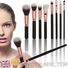 New 8PCS Pro Cosmetic Makeup Brush Set Foundation Powder Brushes Eye Shadow Kit #vovotrade_top