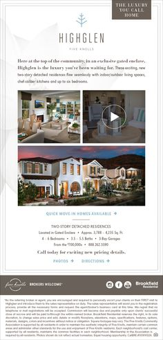 New Homes for Sale in Santa Clarita, California  New Pricing at Highglen in Five Knolls  The Luxury homes you have been waiting for!  http://brookfieldsocal.com/neighborhood/highglen-at-five-knolls/