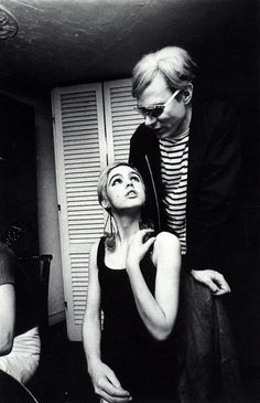 Edie Sedgwick and Andy Warhol #Andy Warhol #celebrity