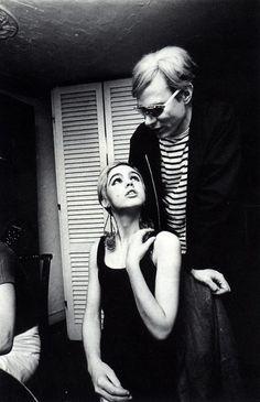 Edie Sedgwick and Andy Warhol.