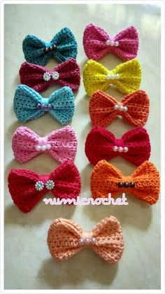 Beautiful crochet bow #numicrochet