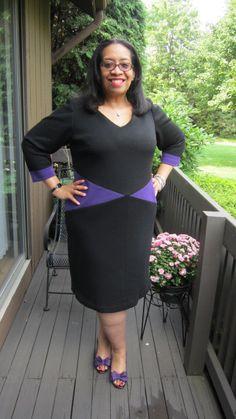 Dress made from Chado Ralph Rucci Wool Doubleknit Fabric