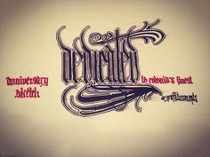 """11 years dedicated in cologne - anniversary sketch #dedicatedsyndicate #calligraphy #type #calligraffiti  #sketch #sketchbook #dedicated #follow…"""