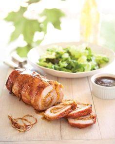 Delectable Peach-Stuffed Pork Recipe