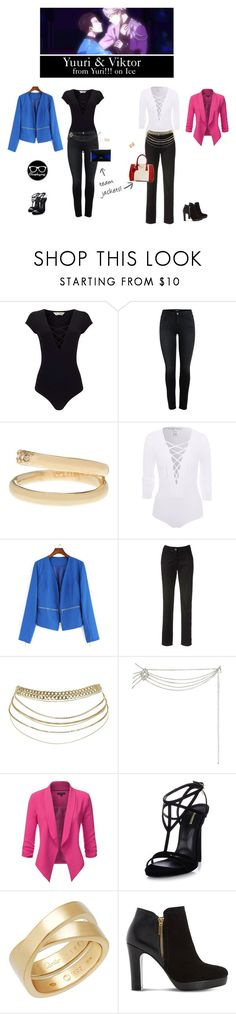 """Yuuri & Viktor - Yuri!!! on Ice"" by closplaying ❤ liked on Polyvore featuring Miss Selfridge, Vince Camuto, NLY Trend, Dsquared2, Cartier, Dune, Prada and CÉLINE"