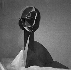 Gabo Naum Constructed Head No 1 - Naum Gabo - Monoskop Aztec Tattoo Designs, Drawing Projects, 3d Drawings, 3d Puzzles, Russian Art, Cubism, Bauhaus, Picasso, Pirates