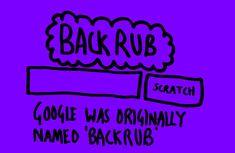 Google was originally named backrub