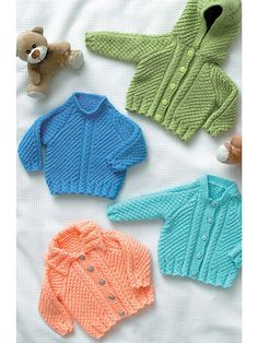 Baby Jacket, Cardigans & Sweater Knit Pattern from Annie's Craft Store. Order here: https://www.anniescatalog.com/detail.html?prod_id=130607&cat_id=469