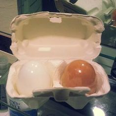"Tony Moly Eggpore Shiny Skin Soap –  Asian Fashion Blog - brought to you by YesStyle.com   ""The egg carton contains two handmade egg-shaped soaps. The white one is for morning use and the brown one is for nighttime.  Per the package labeling, using the soap will help clear out pores and make them appear smaller with long-term use, as well as reduce sebum production. The white one brightens the complexion, while the brown one tightens and refines the skin."""