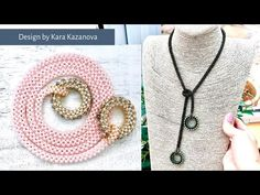 EDNA Tie necklace tutorial   CRAW + RAW   Beaded Necklace - YouTube Jewelry Making Tutorials, Beading Tutorials, Free Tutorials, Video Tutorials, Make A Tie, Tie Pattern, Women Ties, Beaded Jewelry, Beaded Necklaces