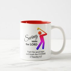 Fun SWING UNTO THE LORD Customizable Golf Two-Tone Coffee Mug golf spectator attire, golf outfit spectator, golf bag storage #golfstyle #golfpro #golfporn, back to school, aesthetic wallpaper, y2k fashion