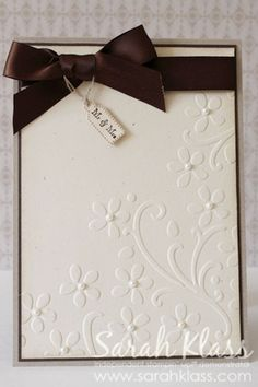 simple and lovely wedding card