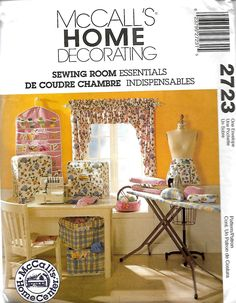 McCall's 2723 Sewing Room Essentials Sewing Pattern, Ironing Board Cover, Window Treatment, Apron, Sleeve Press, Machine Covers, Etc.. UNCUT by DawnsDesignBoutique on Etsy