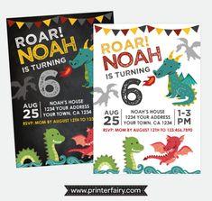 Dragon Birthday Invitation, Dragon Birthday Party, Knight Invitation, Medieval Birthday Party, Personalized Digital Invitation, 2 options