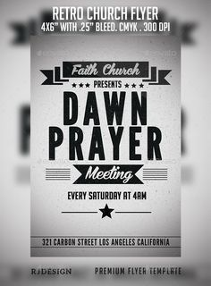 Retro Church Flyer — Photoshop PSD #answer #retro • Available here → https://graphicriver.net/item/retro-church-flyer/9087936?ref=pxcr