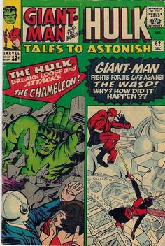 Puny Chameleon and Wasp! Hulk and Giant-Man smash!