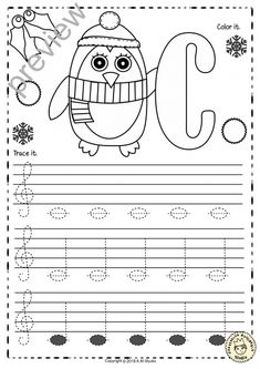 A set of 26 music worksheets {Winter and Christmas themed} is created to help your students learn to trace, copy, color and draw notes on the staff {Treble pitch}. {C first – A second octaves}. Music Lessons For Kids, Music For Kids, Piano Lessons, Kids Songs, Learning Music Notes, Music Education, Music Activities, Music Games, Piano Songs For Beginners