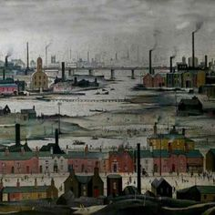 L. S. Lowry, A Manufacturing Town (1922). Oil on panel, 43.2 x 53.3 cm. Science Museum, London.