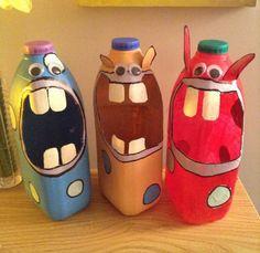 Fall Crafts Using Soda Pop Bottles Pop Bottle Crafts, Milk Jug Crafts, Detergent Bottle Crafts, Fall Crafts, Diy And Crafts, Diy For Kids, Crafts For Kids, Kids Pop, Pop Bottles