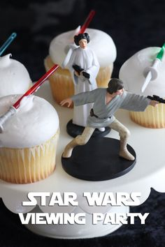 Dress up the party spread for your Star Wars Digital Movie Collection Viewing Party by incorporating scenes and characters from the Star Wars franchise.