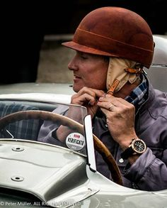 "David Coulthard at Mille Miglia 2014 with our helmet ""1950"""