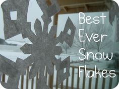Tutorial to make the best snowflakes--use coffee filters and get the true 6-sided symmetry (no more square snowflakes!)