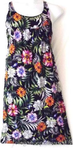 3X 2X Just Love Trapeze Maxi Long Dress Flowers Floral Print Sun Cotton Lounge