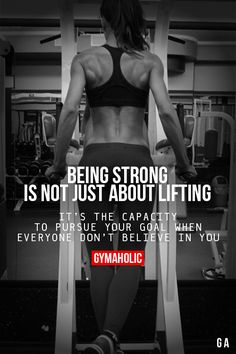 Being Strong Is Not Just About Lifting