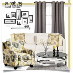 Sunshine On My Shoulders by brendariley-1 on Polyvore featuring interior, interiors, interior design, home, home decor, interior decorating, Furniture of America, Eichholtz, Pillow Decor and John-Richard