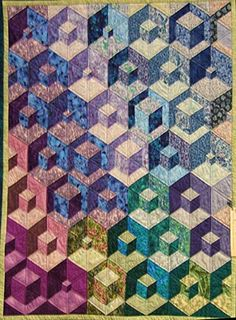 Blocks within blocks quilt. Great colors