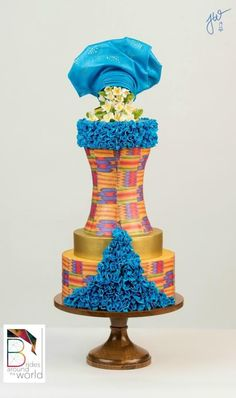 Ghana Modern Wedding Gown - Brides Around the World Collaboration - cake by Jeanne Winslow African Traditional Wedding Dress, Traditional Wedding Cakes, Traditional Cakes, Modern Traditional, Wedding Dress Cake, Themed Wedding Cakes, Themed Cakes, Wedding Attire, African Wedding Cakes