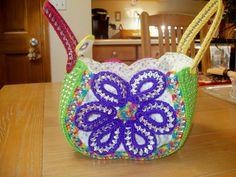 flower tab purse