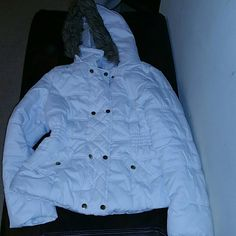 Junior White jacket Bought at Macy's last winter, used a few times , no stains ,zipper working ! Jackets & Coats