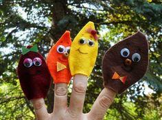 Leaf Finger Puppet Craft