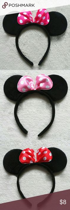 Minnie Mouse Ears Bow Headband? Perfect for birthday's or just any casual day. Accessories Hair Accessories