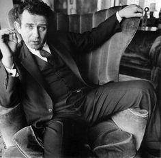 voxsartoria — The Vested Lounge. Norman Mailer, by Diane Arbus,...