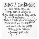 LIttle Girl Gift Idea - Cheerleading Quote.