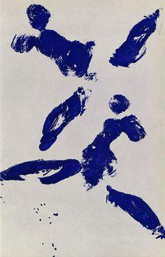 Yves Klein - ANT 95, Anthropometry, 1961