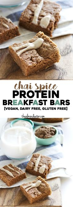 Soft, chewy protein bars that taste like CHAI SPICE with a #vegan option! | thealmondeater.com