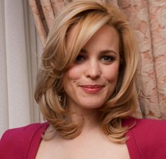 Shoulder-length hair gets a boost on Rachel McAdams with a bright blonde color and lush waves that look total glamour girl. Perfect for the sophisticated, mature woman who wants the versatility of medium-length hair.More hairstyles for over 40:Curly Hair Over 407 Shag Hairstyles for Over 40Pixie Hai..  I wonder if I could pull off my hair this blond:)