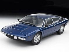 This Lamborghini Urraco Diecast Model Car is Blue and features working steering, suspension, wheels and also opening bonnet, boot with engine, doors. It is made by Kyosho and is scale (approx. Lamborghini Models, Diecast Model Cars, Supercar, Scale Models, Engine, Wheels, Doors, Classic, Vehicles