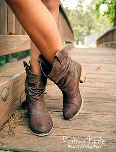 Boots. Perfect for autumn with skinny yoga pants or skinny jeans.