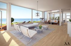 Strand Lomma vardagsrum