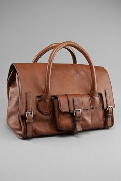 Chloe Brown Leather Large Briefcase Bag Leather Suitcase ffbb9a1d030f3