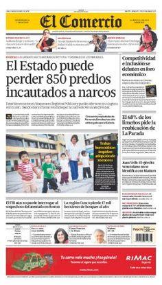 """Nuestra portada de hoy: """"El Estado puede perder 850 predios incautados a narcos"""""""