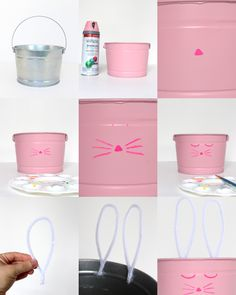 Adorable, non cheesy, bunny basket craft with easy to follow instructions! Win, win!