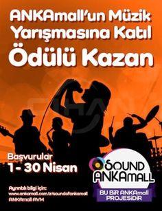 """Garo Mafyan, Ercan Saatçi ve Atiye'nin jüri üyesi olduğu Sound of ANKAmall"""" müzik yarışmasında başvurular 1 Nisan'da başlamış olup 30 Nisan'a kadar sürecek."""