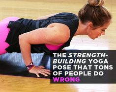 The Strength-Building Yoga Pose That Tons of People Do Wrong Learn how to do Chaturanga the right way& get super toned while you're at it. Yoga Bewegungen, Sup Yoga, Yoga Moves, Vinyasa Yoga, Yoga Workouts, Ashtanga Yoga, Yoga Chaturanga, Toning Exercises, Yoga Bag