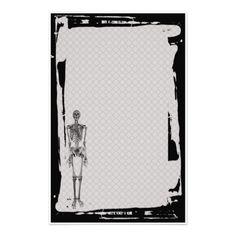 Artigos de papelaria de esqueleto do gótico da cer